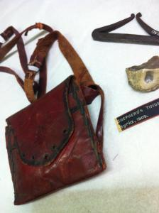 Leather flint pouch