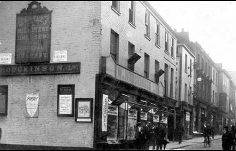 William Hodgkinson's original shop on Bridge Street opened in 1875