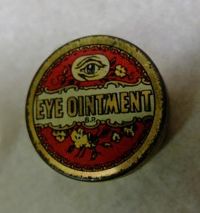 Eye ointment tin from the collection