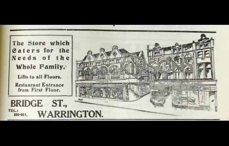 Advert showing enlarged premises