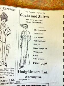 Hodgkinson's advert from 1908