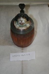 Dog in barrel-german drinking vessel