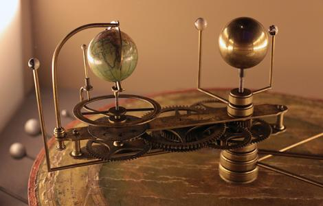 The Museum's Orrery inspired Ellie. Photo by Becky Farmer