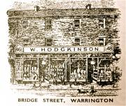 Drawing of shop at 46 Bridge Street from a later advert