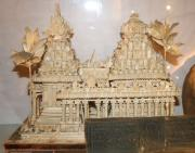 Indian carved wooden temple